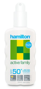 3 PACK OF Hamilton Family Sunscreen Spray Spf50+ 200Ml
