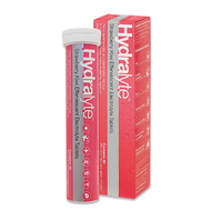 3 PACK OF Hydralyte Effervescent Electrolyte Tablets Strawberry Kiwi 20 Tablets