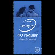 3 PACK OF LifeStyles Regular Condoms 40 Pack