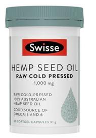3 PACK OF Swisse Hemp Seed Oil 60 Capsules