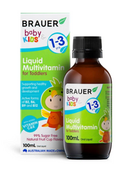 3 PACK OF Brauer Baby & Kids Liquid Multivitamin For Toddlers 100ml