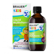 3 PACK OF Brauer Kids Liquid Multivitamin With Iron 200ml
