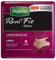 3 PACK OF Depend Realfit Underwear Female Large 9