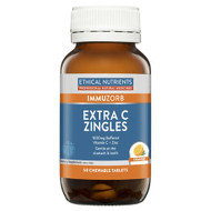 3 PACK OF Ethical Nutrients Immuzorb Extra C Zingles Orange 50 Tablets