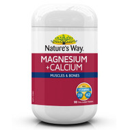 3 PACK OF Nature's Way Magnesium +  Calcium 90 Tablets