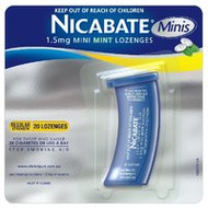 3 PACK OF Nicabate Mini Lozenges 1.5mg 20