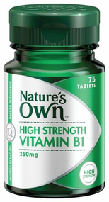 3 PACK OF Natures Own High Strength Vitamin B1 250mg Tablets 75