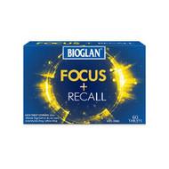 3 PACK OF Bioglan Focus + Recall 60 Tablets