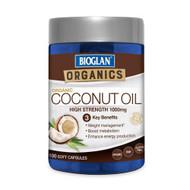 3 PACK OF Bioglan Organics Organic Coconut Oil 100 Capsules