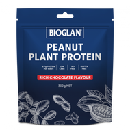 3 PACK OF Bioglan Peanut Plant Protein Chocolate 300g