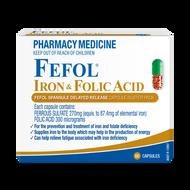 3 PACK OF Fefol Iron & Folate Capsules 60