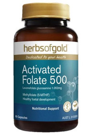 3 PACK OF Herbs Of Gold Activated Folate 500 60 Capsules