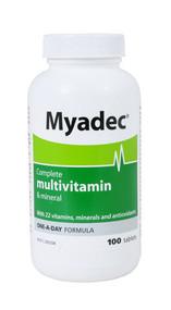 3 PACK OF Myadec Complete Multivitamin & Mineral 100 Tablets