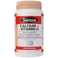 3 PACK OF Swisse Ultiboost Calcium + Vitamin D 150 Tablets