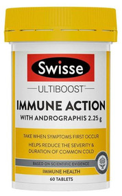3 PACK OF Swisse Ultiboost Immune Action Tablets 60 Tablets