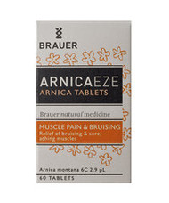 3 PACK OF Brauer Arnica Tablets 60