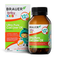 3 PACK OF Brauer Baby & Kids Ultra Pure Cod Liver Oil With DHA 90 Capsules