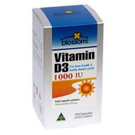 3 PACK OF Blossom Vitamin D3 1000Iu 250 Capsules