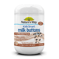 3 PACK OF Natures Way Kids Smart Milk Buttons With Probiotics Chocolate 300g
