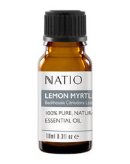 3 PACK OF Natio Happiness Pure Essential Oil Lemon Myrtle 10ml