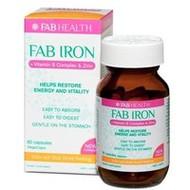 3 PACK OF Fab Iron + Vitamin B Complex & Zinc 60 Capsules