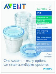 3 PACK OF Avent Via Breast Milk Container 180Ml 10 Pack