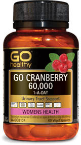 3 PACK OF Go Healthy Go Cranberry 60000 1-A-Day 60 Capsules