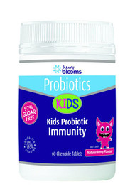 3 PACK OF Henry Blooms Kids Probiotic Immunity Berry 60 Tablets