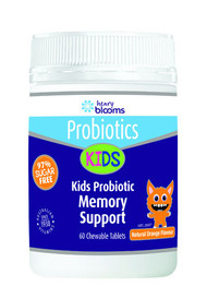 3 PACK OF Henry Blooms Kids Probiotic Memory Support 60 Tablets