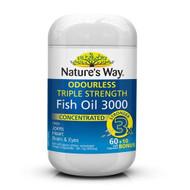 3 PACK OF Nature's Way Fish Oil Triple Strength 60+10 Capsules