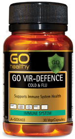 3 PACK OF Go Healthy Go Vir-Defence Cold & Flu 30 Capsules
