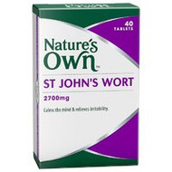 3 PACK OF Natures Own St John'S Wort 2700mg Tablets 40