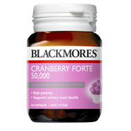 3 PACK OF Blackmores Cranberry Forte 50000 30 Capsules