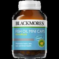 3 PACK OF Blackmores Fish Oil Mini Caps Odourless 200 Capsules