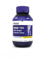 3 PACK OF Blooms Msm Ginger & Devils Claw Capsule 120