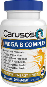 3 PACK OF Caruso's Mega B Complex 60 Tablets