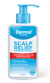 3 PACK OF Dermal Therapy Scalp Relief Shampoo & Conditioner 210ml