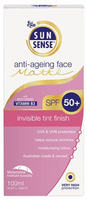 3 PACK OF Ego Sunsense Anti-Ageing Face Matte SPF 50+ 100ml