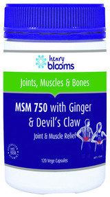 3 PACK OF Henry Blooms MSM 750 with Ginger & Devils Claw 120 Capsules
