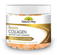 3 PACK OF Natures Way Beauty Collagen Mature Skin 40 Gummies