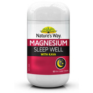 3 PACK OF Natures Way Magnesium Sleep Well 60 Tablets