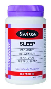 3 PACK OF Swisse Ultiboost Sleep 100 Tablets