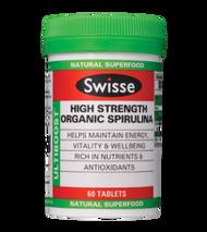 3 PACK OF Swisse Ultiboost Spirulina Organic High Strength 60 Tablets