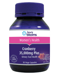 3 PACK OF Henry Blooms Cranberry 35000mg Plus 30 Capsules