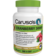 3 PACK OF Caruso's Cranberry 30000 Tablets 30