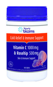 3 PACK OF Henry Blooms Vitamin C 1000 & Rosehip 500 Tablets 180