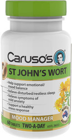 3 PACK OF Caruso's St Johns Wort 60 Tablets