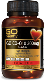 3 PACK OF Go Healthy Go Co-Q10 300mg 1-A-Day 30 Capsules