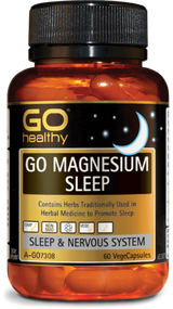3 PACK OF Go Healthy Go Magnesium Sleep 60 Capsules