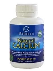 3 PACK OF Lifestream Natural Calcium Powder 100G